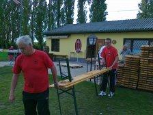 Vorbereitungsarbeiten: Josef Bayer und Wolfgang Neubauer