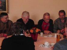 Josef Tertinek, Josef Bayer, Albert Ehn und Helmut Hnelozub