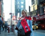 Foto mit Vereinsschal in New York