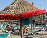 Foto mit Vereinsschal in Mallorca