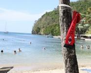Foto mit Vereinsschal in Marigot Bay
