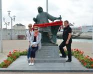 Foto mit Vereinsschal in Zeebrugge
