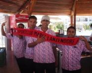 Foto mit Vereinsschal in Hurghada