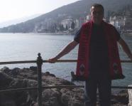 Foto mit Vereinsschal in Opatija