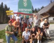 Foto mit Vereinsschal in Turnau