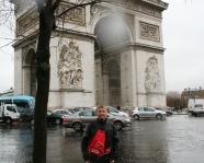 Foto mit Vereinsschal in Paris