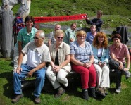 Foto mit Vereinsschal in Rauris