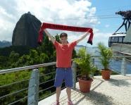 Foto mit Vereinsschal in Rio de Janeiro
